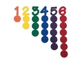 Felt Board Counting Activity, Learning to Count, Teaching Numbers, Preschool Math Material, Pre-K, Kindergarten, Homeschool, Montessori