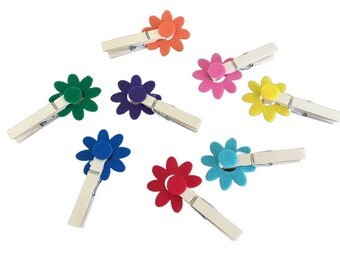 Clothespin Flower Color Matching Game, Fine Motor Activity, Montessori Toddler Busy Bag, Preschool Learning Toy, Occupational Therapy