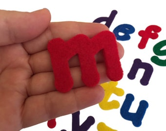 Felt Alphabet, ABC Letters, Multicolor, Price is for Each Letter, Sold Individually, Choose the Letters, Colors and Quantities that you Need