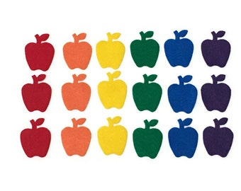 Felt Apples Shapes, 2 inches, Multicolor, Apples for Crafts Projects, Please choose the Colors and Quantities that you Need