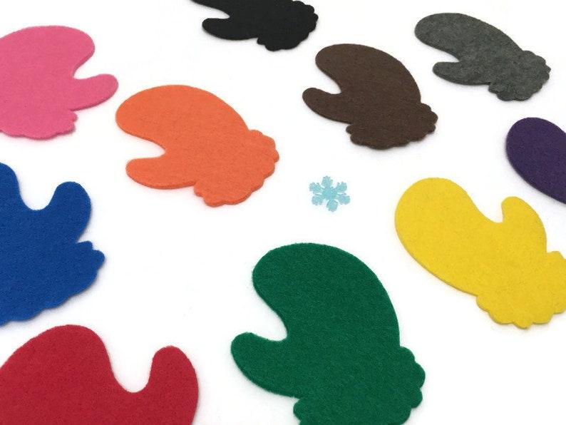 Felt Mitten Game for Kids Hide & Seek Color Learning Game image 0