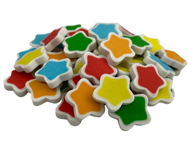 Pack of 30 Mini Star Erasers for Kids, Classroom Rewards, Party Favor Bags, Back to School Supplies, Teacher Gift, Sorting Math Counters