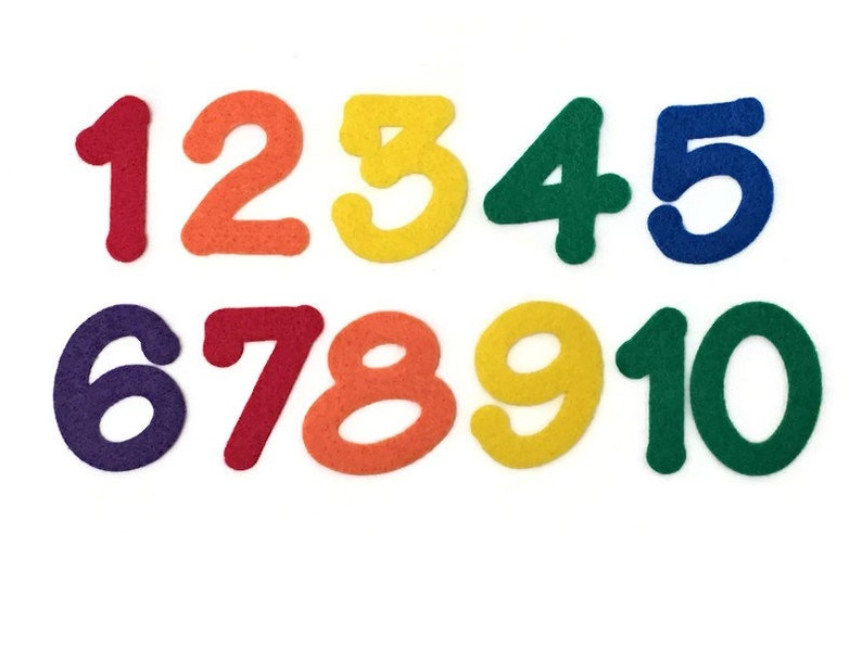 Number Felt Set Felt Numbers 1  10 2 inch Numbers for Felt image 0