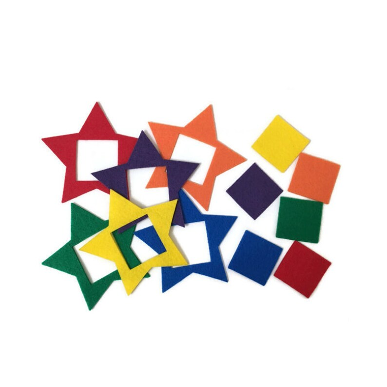 Felt Star Puzzles for Toddlers and Preschool  Color Learning image 0