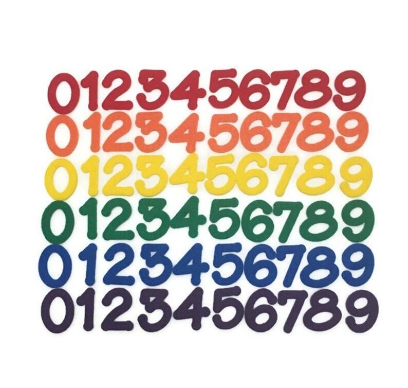 Felt Numbers Set of 60 Numbers 0-9 2 inch Felt Numbers image 0