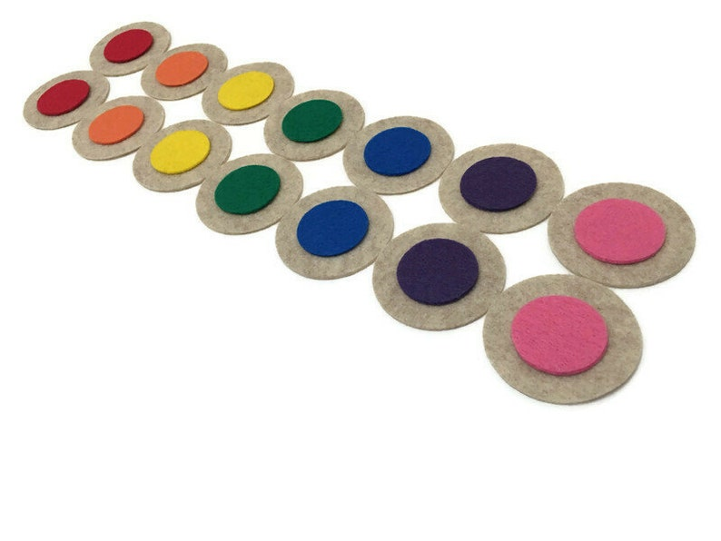 Color Memory Game Kids Sensory Toy Color Matching Activity image 0