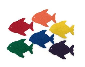 Felt Fish Shapes, Multicolor, Felt Board Set, DIY Summer Craft, Fishing Games for Kids, Under the Sea, Ocean Animal, Party Decoration Supply