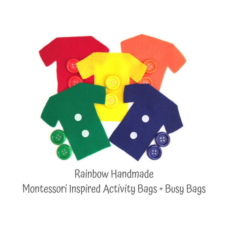 Button Color Matching Busy Bag For Toddler Montessori Toddler Etsy