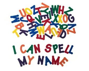 "Rainbow Felt Letter Set, 3 Complete Alphabets, 2"" Uppercase Alphabet Letters, ABC Letter Games for Kids, Spell Your Name, Build Sight Words"