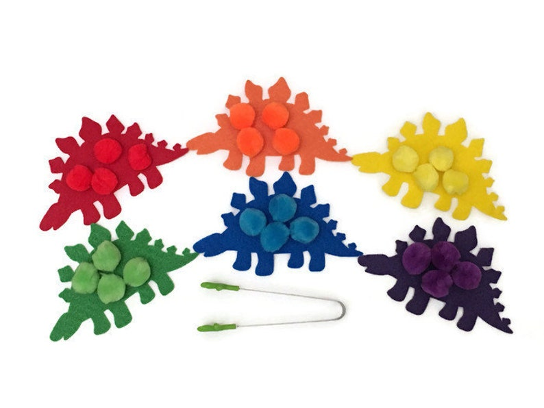 Dinosaur Color Sorting Game  Educational Dinosaur Toys for image 0
