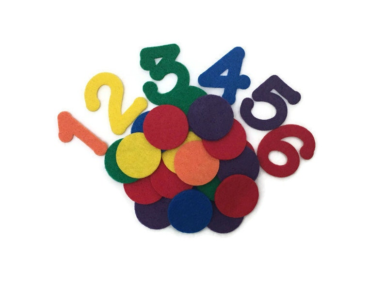 Number Counting Game Felt Numbers and Counters Counting 1 to image 0