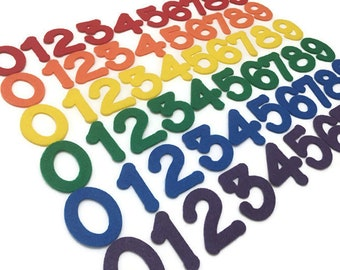Felt Numbers, Multicolor, 2 inch, Price is for Each Number, Sold Individually, Choose the Numbers, Colors and Quantities that you Need