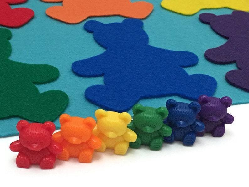 Bears Matching Sorting Game Preschool Learning Toy image 0