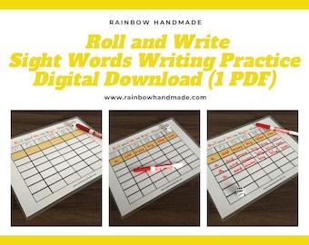 Sight Word Writing Practice, Preschool Worksheet Printable, Writing Words, Literacy, Handwriting, PreK, Kindergarten, Montessori Homeschool