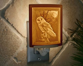 "Night Light - Porcelain Lithophane ""Owl"""