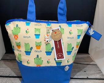 Small Cute Catus Project Bags, Sock Bag.