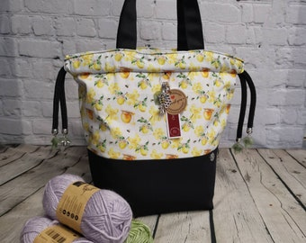 Large Honey Bee Theme project bags.