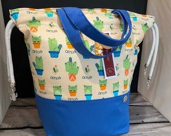 READY TO POST Medium Cute Catus Theme project bags