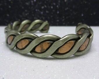 Vintage Copper Bangle Bracelet.