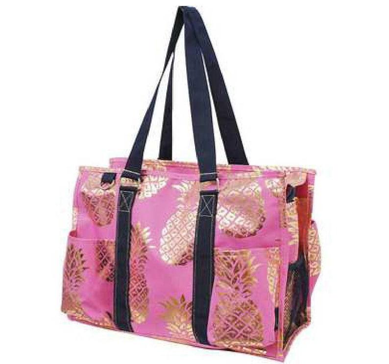 Nursing Clinical Bag Pink Gold Pineapple Nurse Tote Bag Etsy
