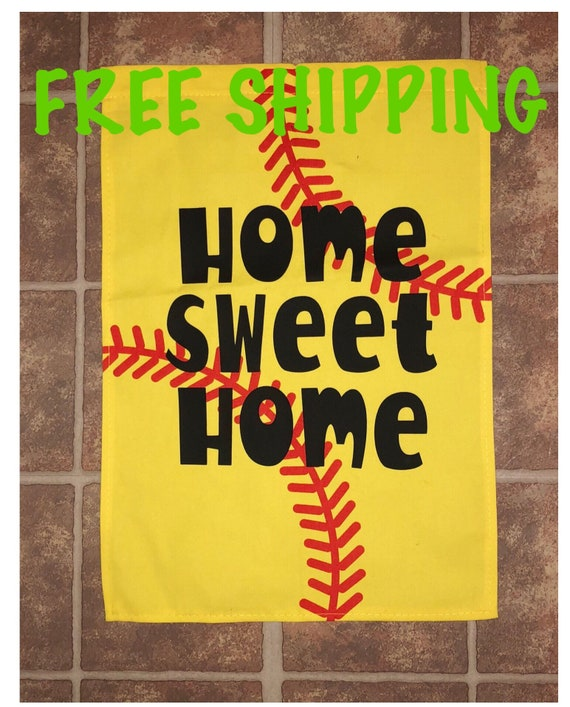 Softball Garden Flag  Home Sweet Home