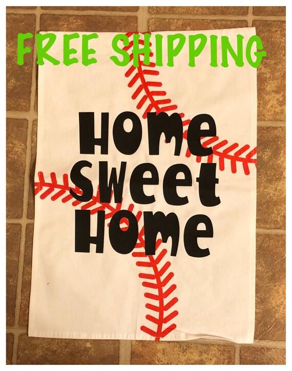 Baseball Garden flag Home Sweet Home
