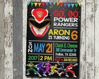 Rangers Invitation Etsy