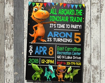 Dinosaur Train Invitation Birthday Party Personalized Digital File