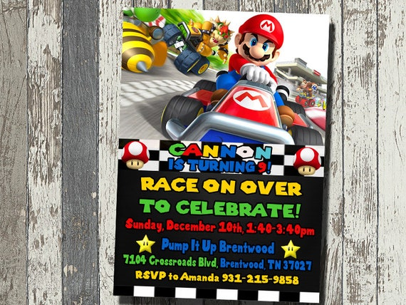 Mario Kart Party Invitations Unique Birthday Party Ideas And Themes