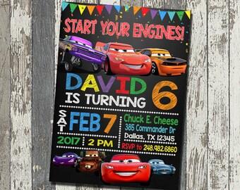 Disney Cars Invitation, Disney Cars Birthday Party, Disney Cars Birthday Invitation, Personalized, Digital File