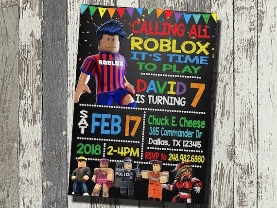 Roblox Invitation Birthday Party