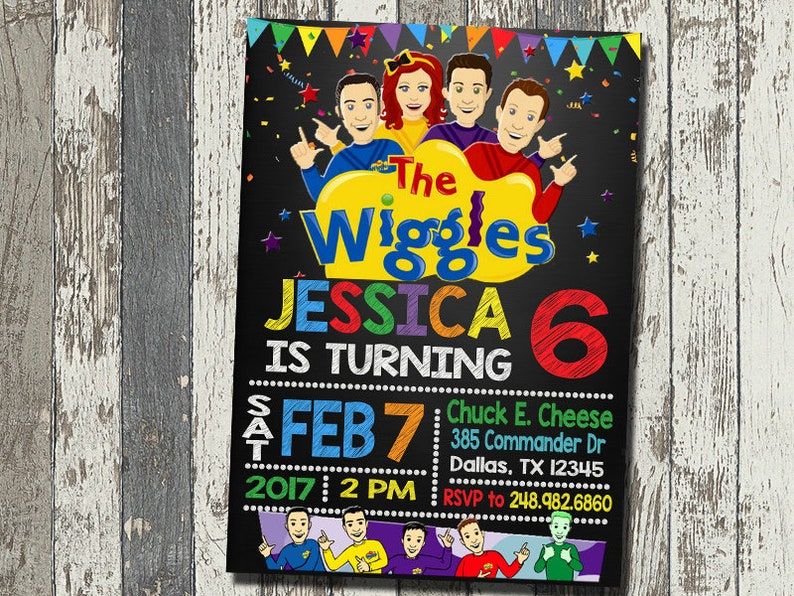 The Wiggles Invitation The Wiggles Birthday Party The Etsy