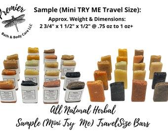 Handmade Soap Samplers, Travel Size Soaps, 6-Pack Sample Set Bar Soaps