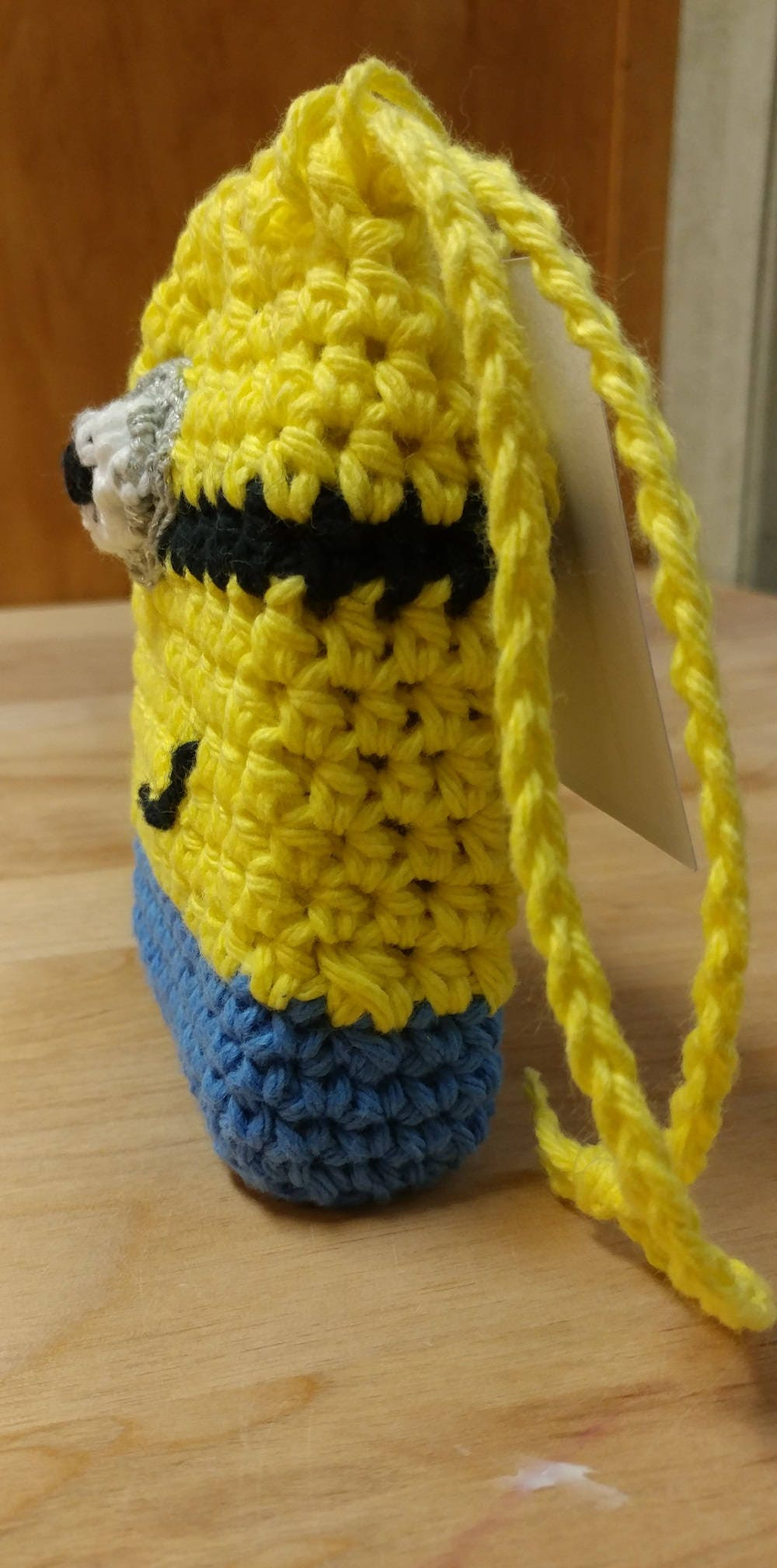 Handmade Cotton Despicable Me Minion Soap Saver Crochet Cotton