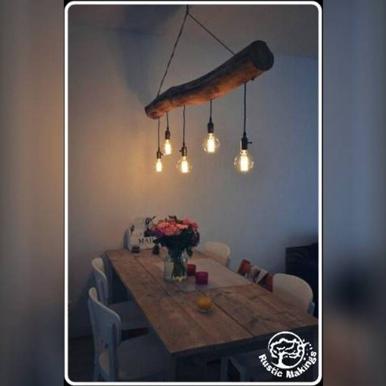 Rustic Farmhouse Country Personalised Beam Kitchen Island Table Lamp Light Chandelier Hallway Ceiling