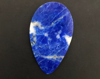 Lapis Cabochon, 40x24x3mm, Designer Cabochon, VERY BEAUTIFUL! Very Deep Blue Color!!!