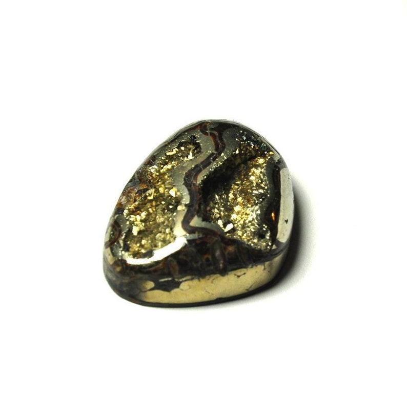 Russian Ammonite cabochon High grade Sea Fossil cabochon Ammonite cabochon with Pyrite Designer Cabochon
