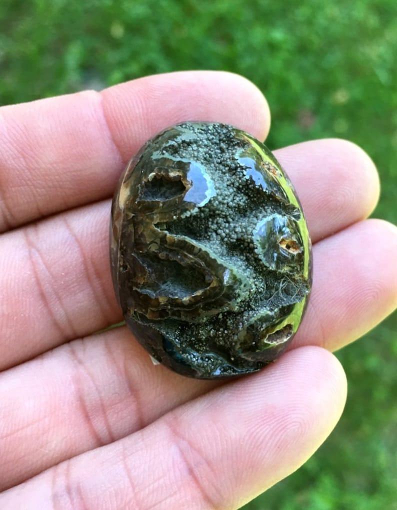 Collector Ammonite  with Pyrite High grade Sea Fossil cabochon 32x24mm Russian Ammonite cabochon Designer Cabochon