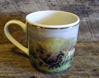 BHG Galeria Porcelany Slaskiej Juliusz Kossak Demitasse Cup - Very Rare - Made in Poland - Porcelain - Horse Lover Gift