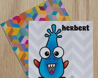 "Replacement Card ""Herbert"" — Oh Those Monsters: Memory Game"