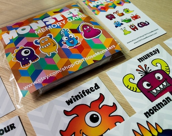 Oh Those Monsters: Memory Game