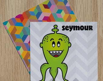 """Replacement Card """"Seymour"""" — Oh Those Monsters: Memory Game"""
