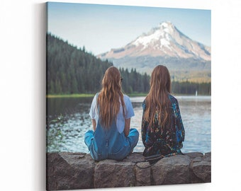 Canvas Prints with Your Photos, Personalized Pictures Gifts for Wall Art Home Decor, Customized Frame Printing with Stretcher Bar