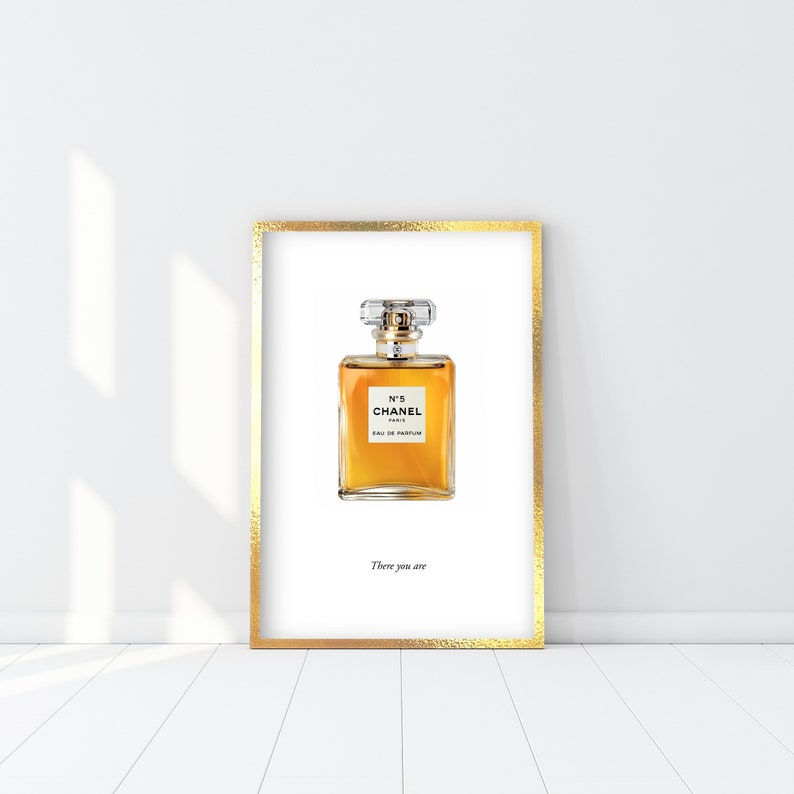 Coco Chanel No 5 Print Coco Chanel Perfume Bottle Poster Etsy
