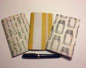 Set of 3 Pocket Sized Traveler 39 s Notebook Inserts quot Vintage Salt Pepper quot
