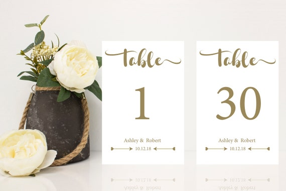 picture about Diy Printable Table Numbers titled Sophisticated marriage ceremony desk amount tags - Do it yourself printable desk figures, 4x6 desk figures 1-30, tailor made generated desk quantities, manufactured in the direction of buy desk #s