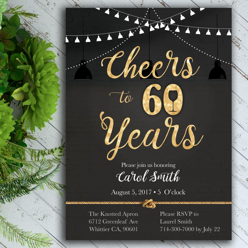 Cheers Birthday Invitation Classy 40th