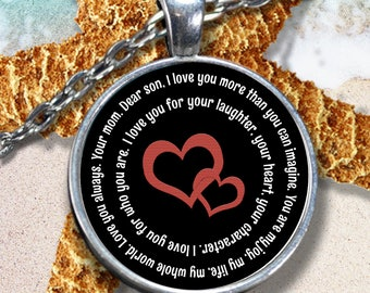 Mother Son Necklace Gifts For Him Gift Personalized Jewelry Christmas Birthday 21st Mom