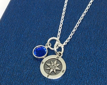 Travellers Gift Wanderlust Compass Necklace Compass Jewelry Geography Student Gold Compass Pendant Charm Friendship Necklace