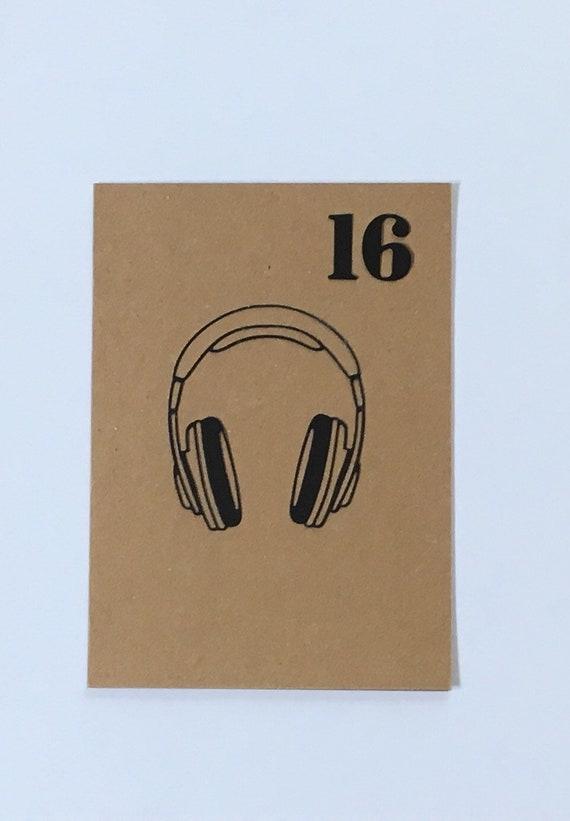Happy Birthday Headphone Card Music Lovers